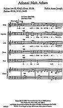Adonai mAh Adam o God, what are we?–SATB–Choral Score