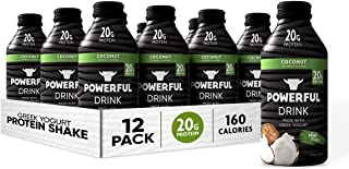 Powerful Drink – Protein Shake, Meal Replacement Shake, Greek Yogurt, Gluten Free, Ready to Drink, 20g Protein, Coconut, 1...
