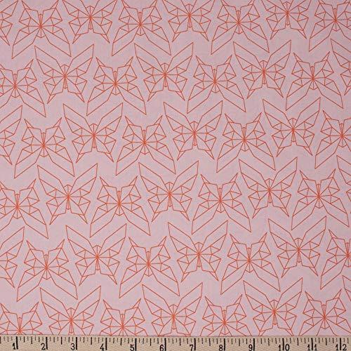 Birch Organic Fabrics Jay-Cyn Designs Geogami Geo Butterfly Blush, Fabric by The Yard