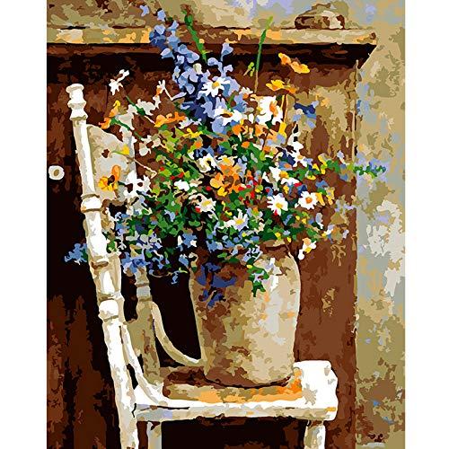 Pintar por Numeros Adultos Niños Pinturas por Numeros Cuadro Pintar con Numeros,Colorear...