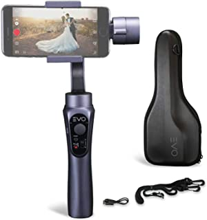 EVO Shift Camera Stabilizer - Handheld Gimbal for iPhone or Android Smartphones - Intelligent APP Controls for Auto Panoramas, Time-Lapse and Tracking
