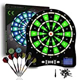 Best Electronic Dartboards - Turnart Electronic Dart Board,13 inch Illuminated Segments Light Review