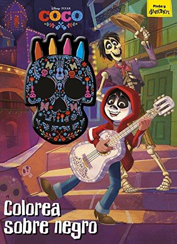 Coco. Colorea sobre negro: Libro para colorear con ceras (Disney. Coco)