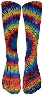 Hunter qiang, Rainbow Tye Dye - Rodillera para niños, 50 cm de largo