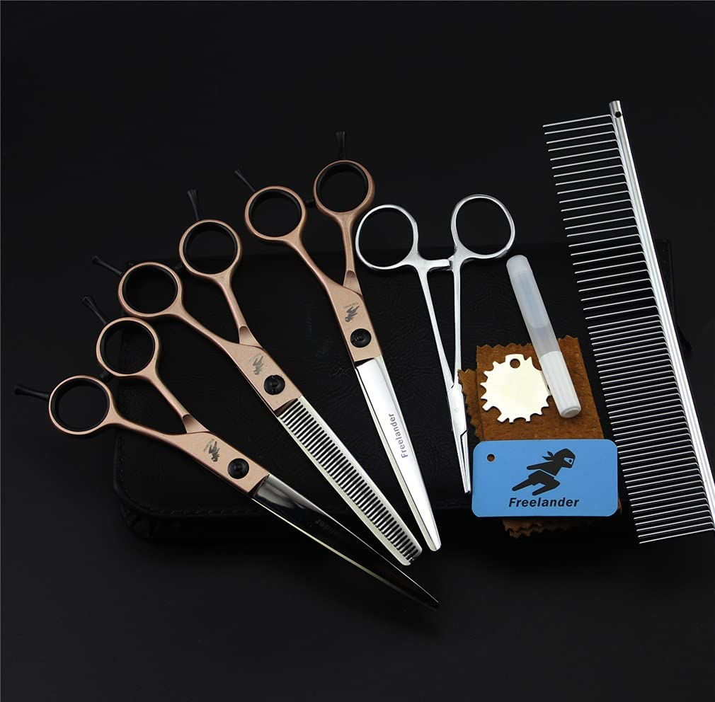 YODZ Pet Fresno Mall Grooming Scissors Set 8 Salon Pcs Stain Trimmer Sale Special Price Kit