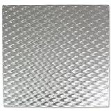 PME Quadratische Tortenplatte 30 cm, Kunststoff, Silber, 30 x 0.4 x 30 cm