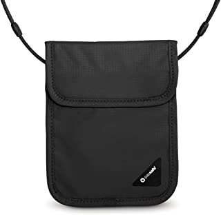 Coversafe X75 Anti-Theft RFID Blocking Neck Pouch, Black