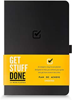 Undated Productivity Journal 13 Week Planner for Goal Setting - Plus 31 Daily Pages, 8.3