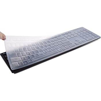 Black Keyboard Cover for Dell KB216 Keyboard,Dell KM636 Kb216P Kb216T Km636 Wk636 Keyboard.Dell Optiplex 5250//3050//3240//5460//7450//7050,Dell Inspiron AIO 3475//3670//3477all-in one Desktop.