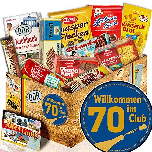 Keks Set / DDR Box / Wilkommen im Club 70 / Geschenkidee Geburtstag 70