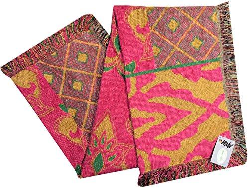Manual todo sobre color peso medio rayón tapiz manta atraac 48x 60'Multi