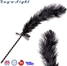 1SL8106 Black Ostrich Feather Plume Tease -50 Shades of Grey Costume