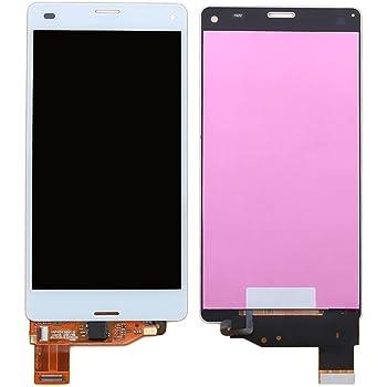 ixuan Sony Xperia Z3 Compact D5803 D5833/So-02G/Z3 Mini 修理用フロントパネル(フロントガラスデジタイザ) タッチパネル Lcd液晶パネルセット 修理工具付き (ホワイト)