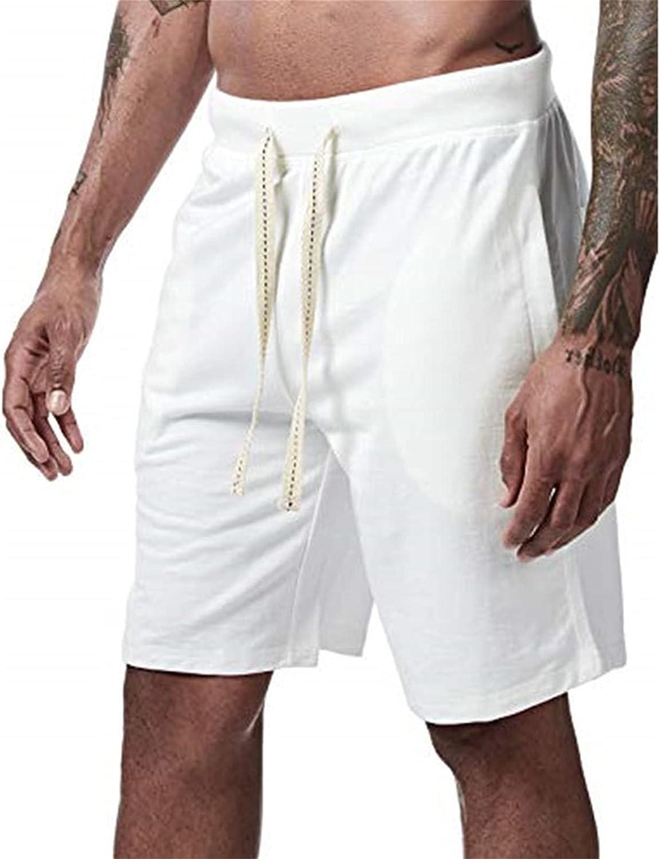 Angbater Mens Shorts Summer Beach Short Pants WorkoutCasual Black Drawstring Loose Shorts