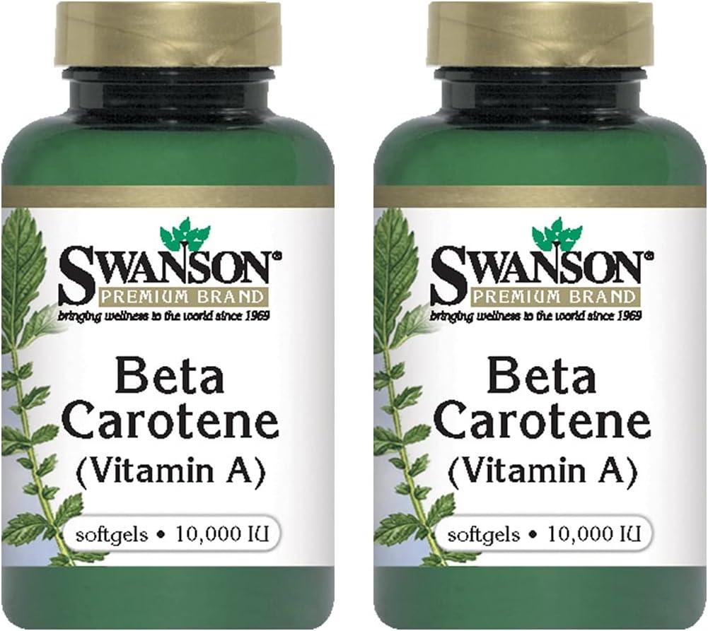 Swanson Beta-Carotene Vitamin A specialty shop Skin Max 83% OFF System Eye Immune Health