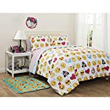 Emoji Pals Reversible Bed in a Bag Comforter Set, Queen (Full)
