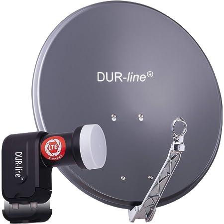 Dur Line 2 Teilnehmer Set Qualitäts Alu Satelliten Komplettanlage Elektronik