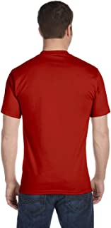 Hanes Men's Tall Short Sleeve Beefy-T (Pack of 2), 3XLT, 1 Black / 1 Deep Red