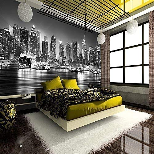 new york wall mural amazon co uknew york city at night skyline view black \u0026 white wallpaper mural photo giant wall poster