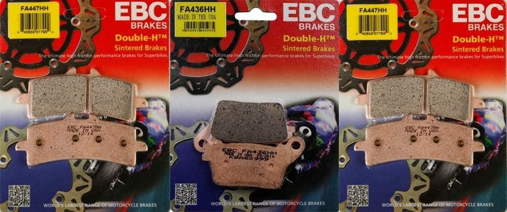 EBC Regular store HH Series Front Rear Brake SALENEW very popular CBR100 fits Pad Kit Combo Honda