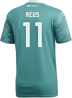 adidas Reus #11 Germany Away Soccer Stadium Men's S/S Jersey World Cup Russia 2018