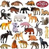 Zoo World Animali Giocattolo, Set di 25 Pezzi di Animali della Giungla Realistici (10 cm), in Plastica, per Bambini e Bambine Ottima Idea Regalo o Bomboniera per Feste per Bambini