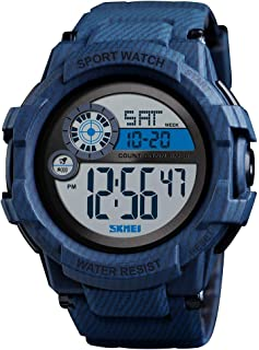Skmei Sports Watch Digital Watches Men Black Case Waterproof Dual Time Zone Watches