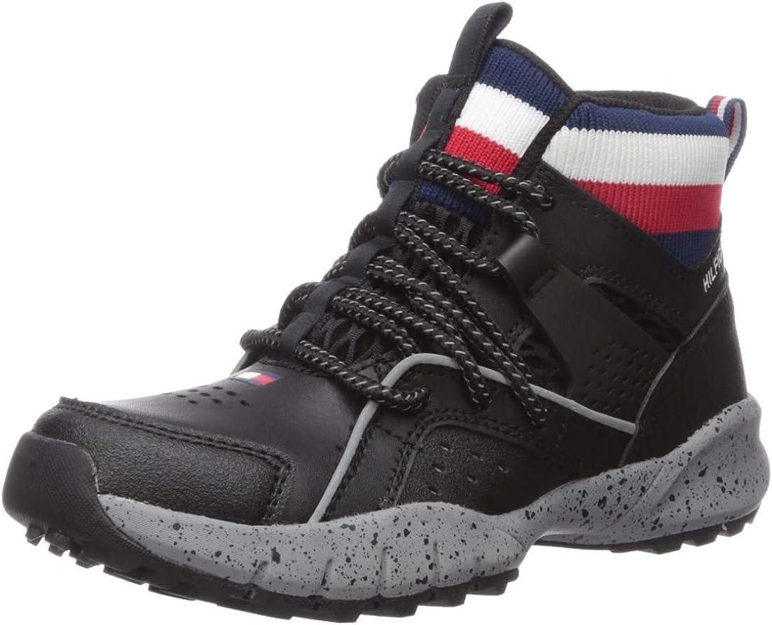 Tommy Hilfiger Unisex-Child Kids' Th Trail Mid Hiking Boot