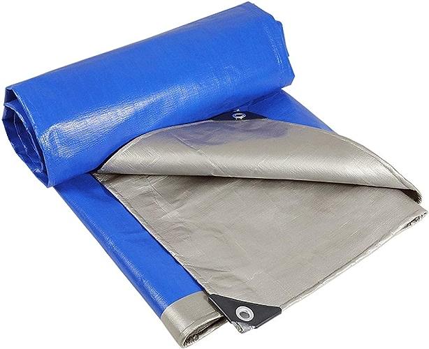 Duanguoyan Bache- Bache extérieure imperméable d'isolation de Prougeection Solaire de Tissu imperméable Bleu et Argent épais (Couleur   bleu, Taille   6X6m)