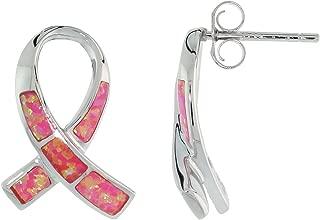 opal inlay earrings