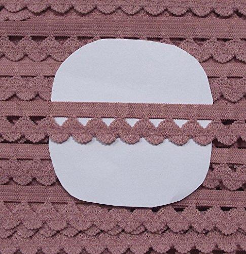 3 m Wäschespitze elastisch 13 mm alt rosa 1,66 €/m