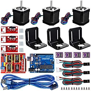 Riiai 3D Printer CNC Controller Kit with for ArduinoIDE Longruner GRBL CNC Shield Board+RAMPS 1.4 Mechanical Switch Endstop