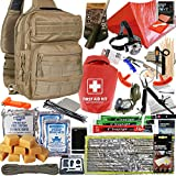 Elite 72 Hour Emergency Survival Kit and Bugout Bag with First Aid, Shelter, Water, Food, Fire...
