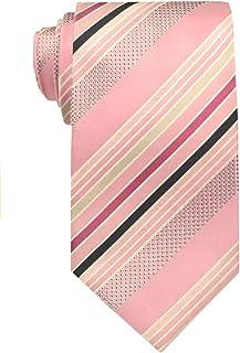 Remo Sartori - Cravatta In Pura Seta a Righe Regimental Pastello, Made In Italy, Uomo