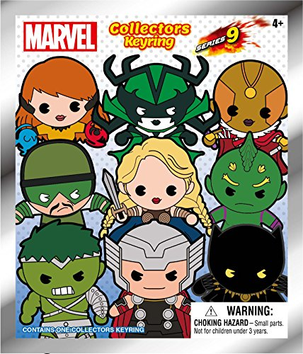 Marvel 3D Figural Keyring Avengers Series 9, Mystery Pack, 11 Characters to Collect!