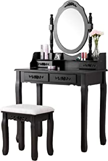 makeup vanity set black