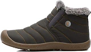 ICHUANGDIANZI Bottes De Neige Montantes en Velours, Chaussures en Coton Chaudes Et Imperméables Source (Color : Gray Low T...