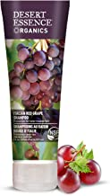 Desert Essence Organics Italian Red Grape Shampoo - 8 Fl Oz - Protection For Color Treated Hair - Antioxidants - Healthier & Smoother - Vitamin B5 - Sugar & Coconut Oil Cleansers - Shine - Smoother