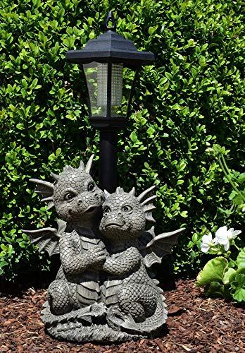 MystiCalls by Mayer Chess Drachenpaar mit Solarlaterne - Garten, Figur, Drache, Love