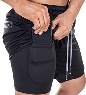 EVERWORTH Men's 2-in-1 Bodybuilding Workout Shorts...