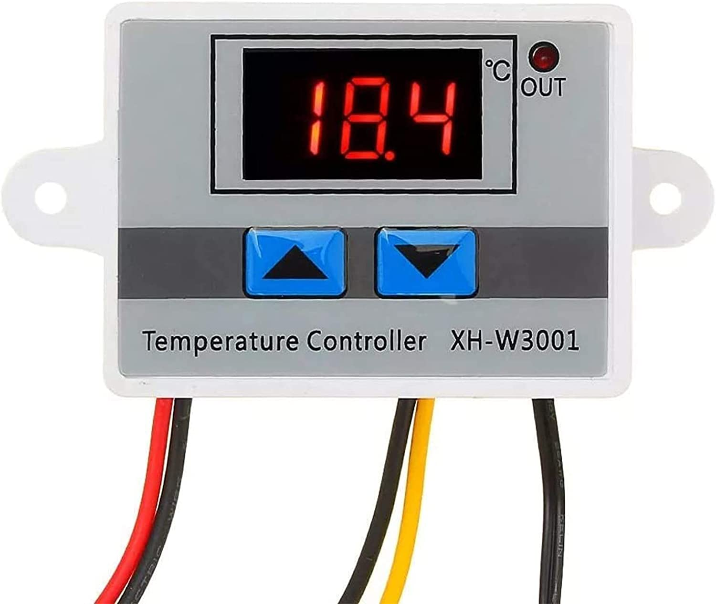 RUIZHI XH-W3001 Digital LED Controlador de Temperatura, Interruptor de Termostato Temperature Controller Thermostat con Sonda Impermeable (12V/120W)