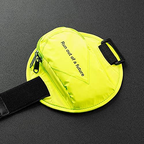 WANZPITS 2 Unids Reflective Running Brazo Bolsa Tenedor De Teléfono Móvil, Hombres Y Mujeres Barra De Muñeca para Deportes Al Aire Libre para Todos Los Teléfonos Móviles,Amarillo