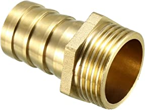 uxcell Brass Barb Hose Fitting Connector Adapter 25mm Barbed x 1 PT Male Pipe