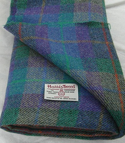 Authentic Harris Tweed Stoff 100% reiner Schurwolle mit .. Etiketten, 75 x 50 cm-ref. feb63 ---...