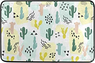 Mydaily Cute Cactus Doormat 15.7 x 23.6 inch, Living Room Bedroom Kitchen Bathroom Decorative Lightweight Foam Printed Rug