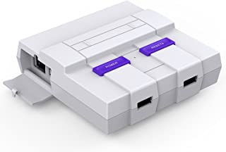 SNES Raspberry Pi Case for Pi 3, 2 and B+ with Front Facing USB Ports, Functional Power and Reset Button and Cooling Fan by BassTop