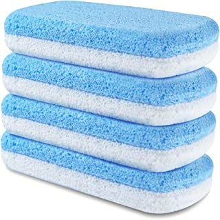 Pumice Stone Sponge Block 4 Pack Foot Pumice Pad Premium Foot File and Scrubber 2 in 1 Callus Remover for Feet Hands and Body Perfect Pedicure Beauty Tools for Exfoliation to Remove Dead Skin (4 PCS)