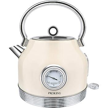 Rostfreier Stahl Ariete 2877 Kabelloser Wasserkocher Vintage 1,7 L beige 2200 W