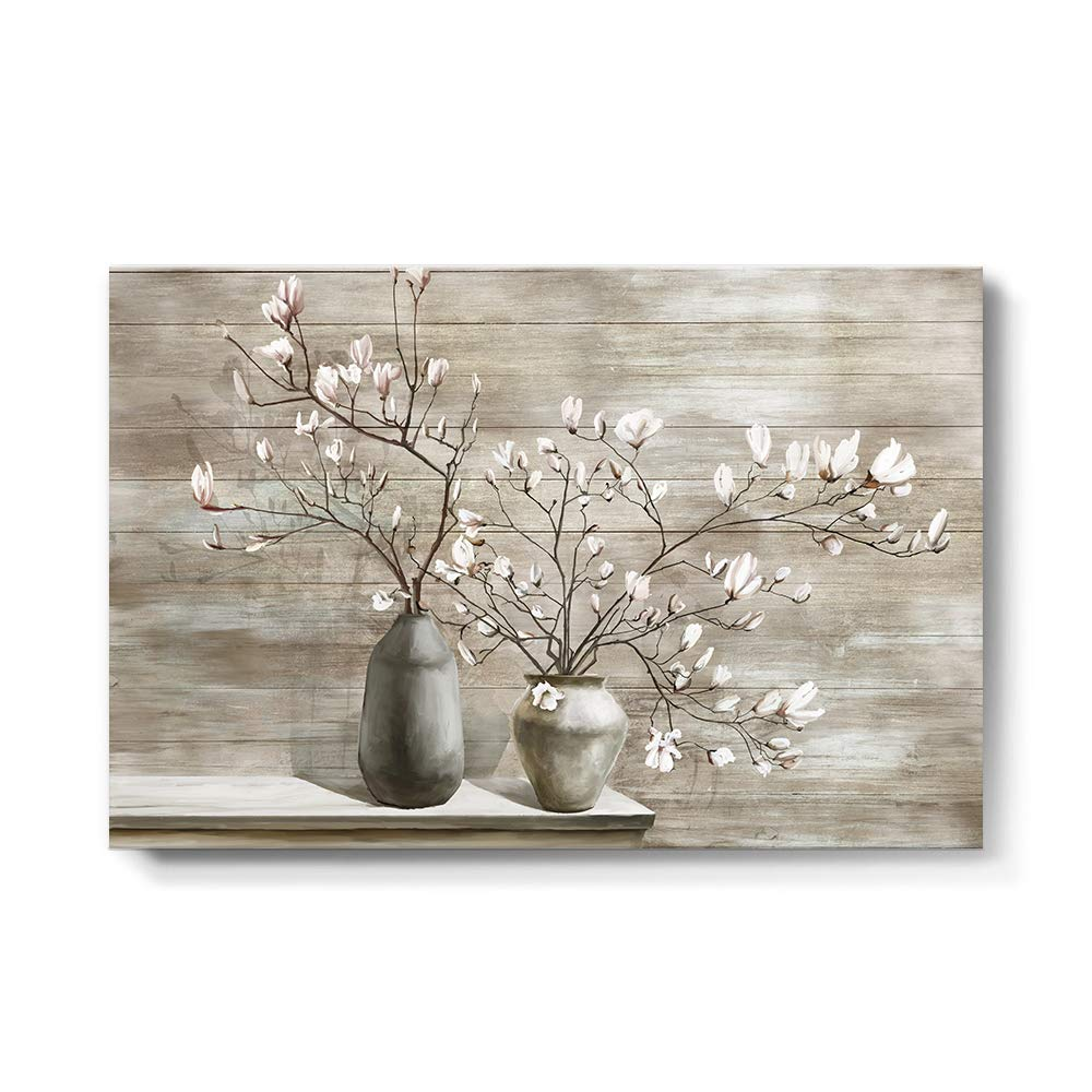 Takfot Gorgeous Farmhouse Excellent Wall Art Rustic Painting Flower Canvas Pictures