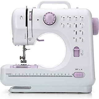 FamYun Sewing Machine, Crafting Mending Machine, Children Present Portable with 12 Built-in Stitches